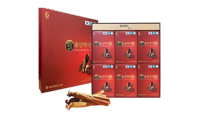 Hồng sâm nước nhung hươu 6 tuổi Q Plus Hàn Quốc hộp 30 gói tặng kèm túi đựng cao cấp
