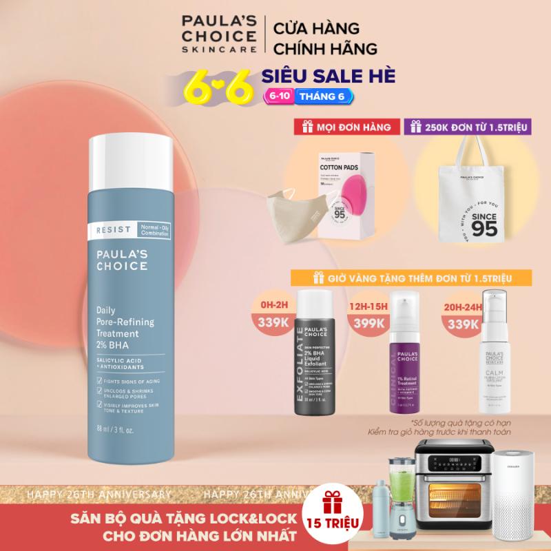 Dung dịch tẩy da chết và se khít lỗ chân lông Paula's Choice Resist Daily Pore refining Treatment 2% BHA 7820 giá rẻ