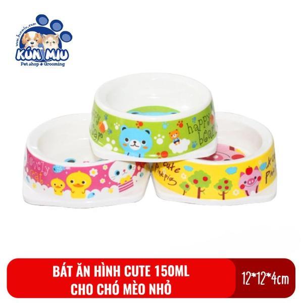 Bát ăn cho chó mèo dung tích 150ml Kún Miu  chất liệu nhựa PP an toàn cho người và thú cưng