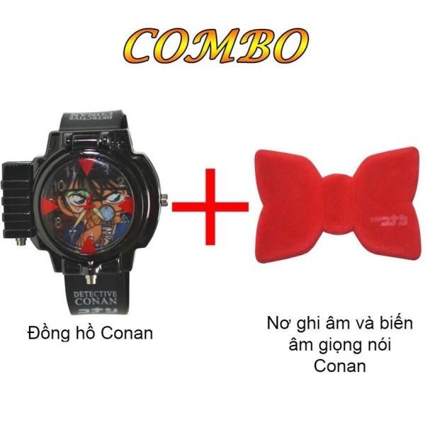 Nơi bán Đồng hồ Conan đeo tay bắn laser và Nơ Conan ghi âm ComBo Hai Món