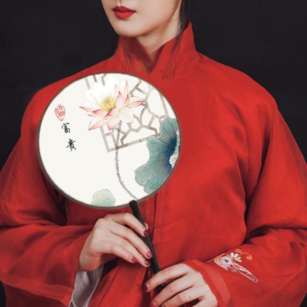 Quạt tròn cổ điển phong cách Trung Quốc