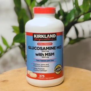 Viên Uống Bổ Khớp Glucosamine HCL 1500mg Kirkland With MSM 1500mg Hộp 375 Viên, Nắp Đỏ nuôi dưỡng đồng thời hỗ trợ tốt cho xương khớp, Kirkland Signature Glucosamine with MSM, 375 Tablets thumbnail