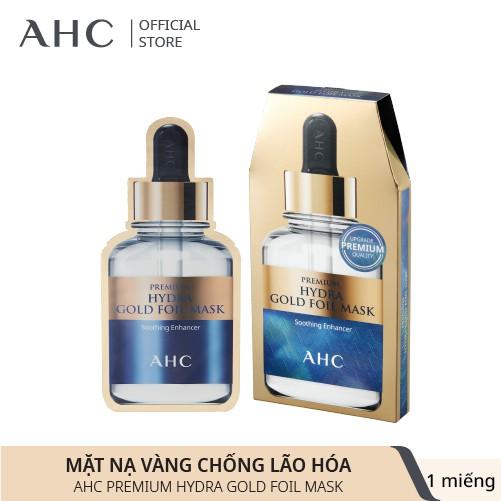 Mặt Nạ Vàng Chống Lão Hóa AHC Premium Hydra Gold Foil Mask 25ml