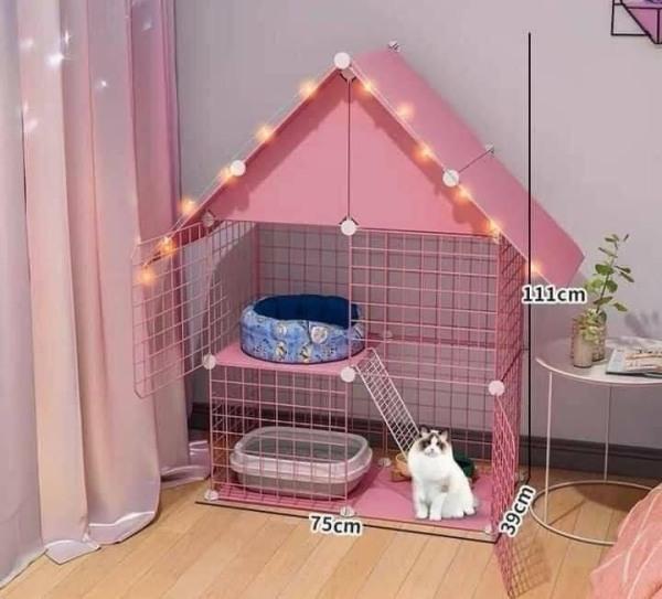 {SỈ SLL} COMBO chuồng Mèo có mái lắp ghép thông minh .