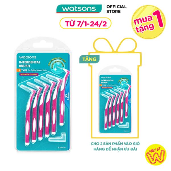 Bàn Chải Kẽ Răng Chữ L Watsons 07mm 6Cái giá rẻ