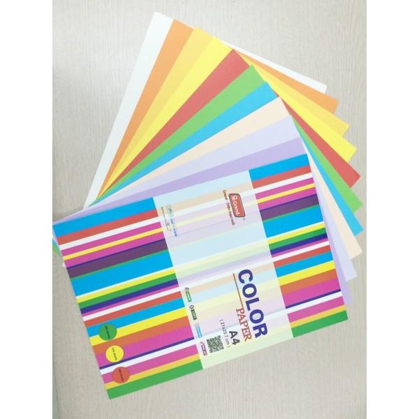 Mua Xấp 100 tờ giấy màu A4 định lượng 80 gsm PGRAND ( xanh lá, xanh dương, cam, vàng, đỏ, hồng, tím, be, xám )