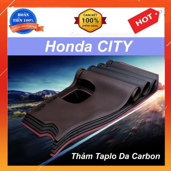 Thảm Taplo Xe Honda City 2021 Mẫu Da Carbon Cao Cấp Có Đế Chống Trượt Giúp Che Nắng Taplo, Chống Nứt Bạc Màu Taplo, Chống Lóa Mắt Và Tăng Thẩm Mỹ Cho Xe