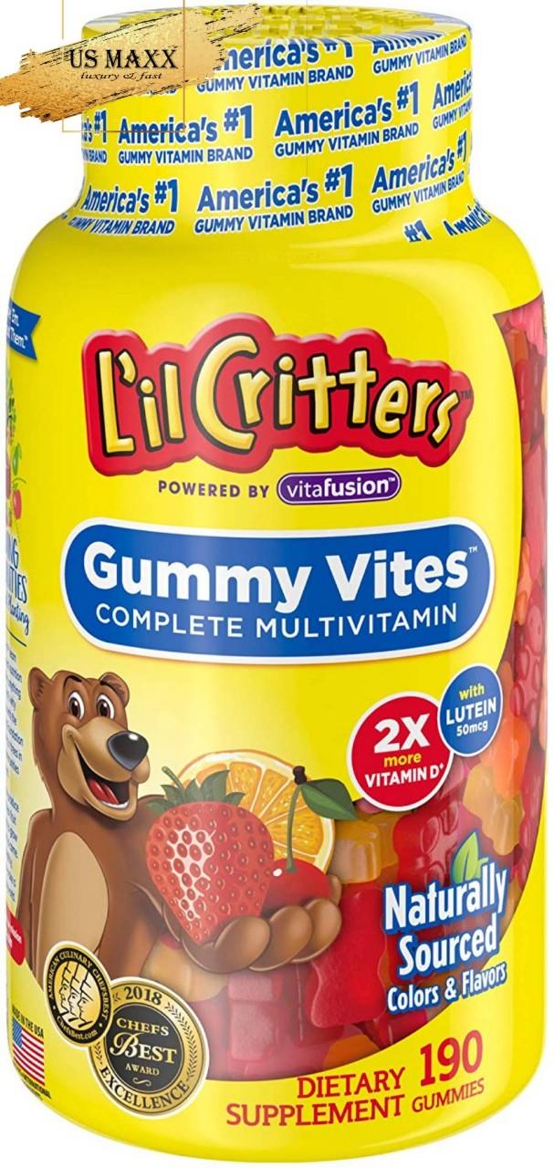 Kẹo dẻo bổ xung vitamin cho bé Lil Critters gummy vites ( 190 viên ) USA