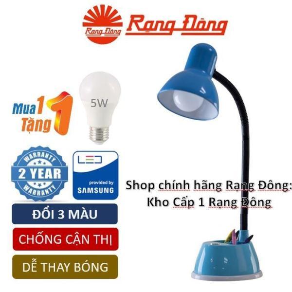 Đèn bàn LED chống cận đổi 3 màu 7W Rạng Đông Samsung chipLED + Tặng bóng LED 5W Rạng Đông (RL 25 DM) Mới