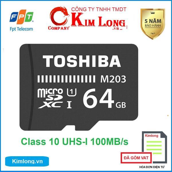 Thẻ nhớ Toshiba 64GB Micro SD Class 10 UHS-I 100MB/s hàng FPT