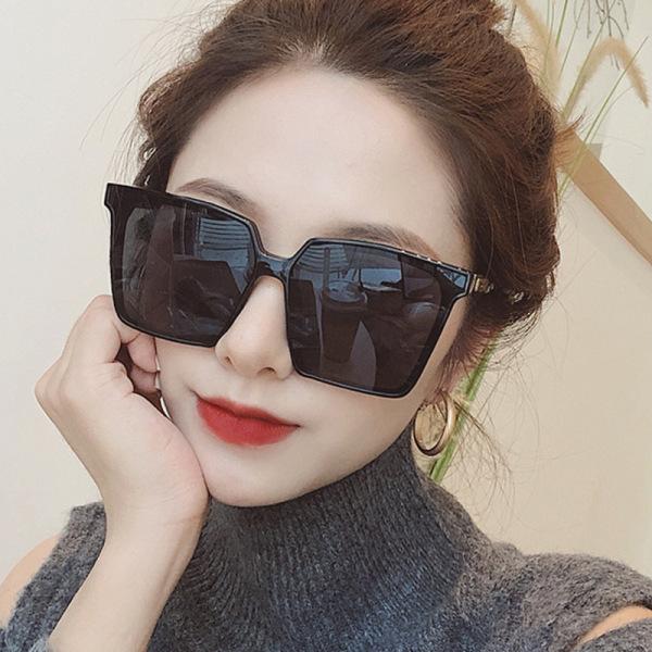 Giá bán (HOT 2021) Kính râm gọng vuông nữ, mắt kính to phiên bản Hàn quốc, chống tia cực tím - KM03