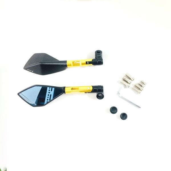 Gương 5 cạnh riroma màu vàng ( 1 chiếc bên trái )
