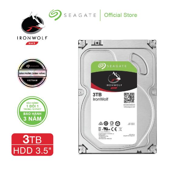 Bảng giá Ổ cứng HDD 3.5 NAS SEAGATE Ironwolf 3TB SATA 5900RPM 64MB - ST3000VN007  + Gói cứu dữ liệu Phong Vũ