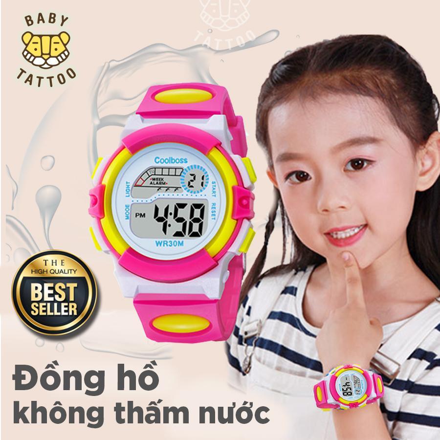 Giá bán BABY TATTOO Đồng hồ màu sắc cho bé, đồng hồ chống thấm nước nhiều màu sắc