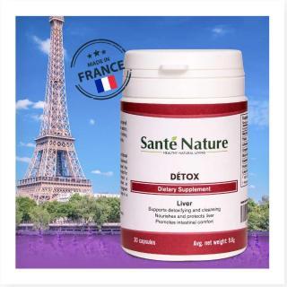 Viên uống giúp hỗ trợ chức năng gan Santé Nature Détox 1