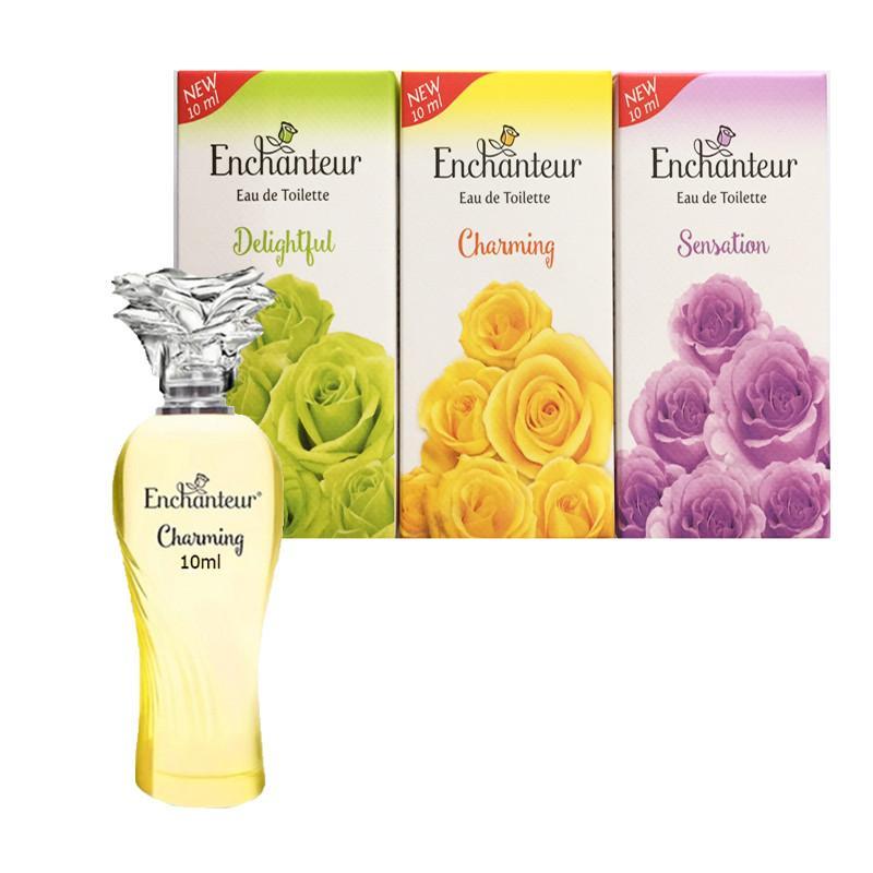Combo 3 Chai Nước Hoa Nữ Enchanter dạng xịt(10ml*3-Mix 3 màu như ảnh) chính hãng