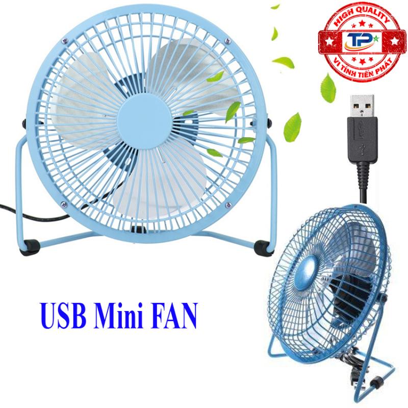 Quạt USB Mini Fan Lileng 819 loại 3 cánh, lồng sắt 20cm Quay 360 độ Tiện Dụng - TPF1