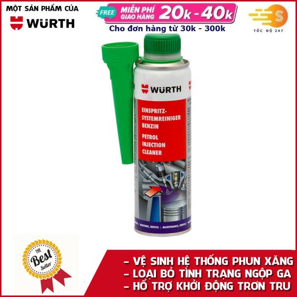 Phụ gia xúc béc xăng cao cấp Wurth WU-SBX300 Làm sạch động cơ - phục hồi động cơ