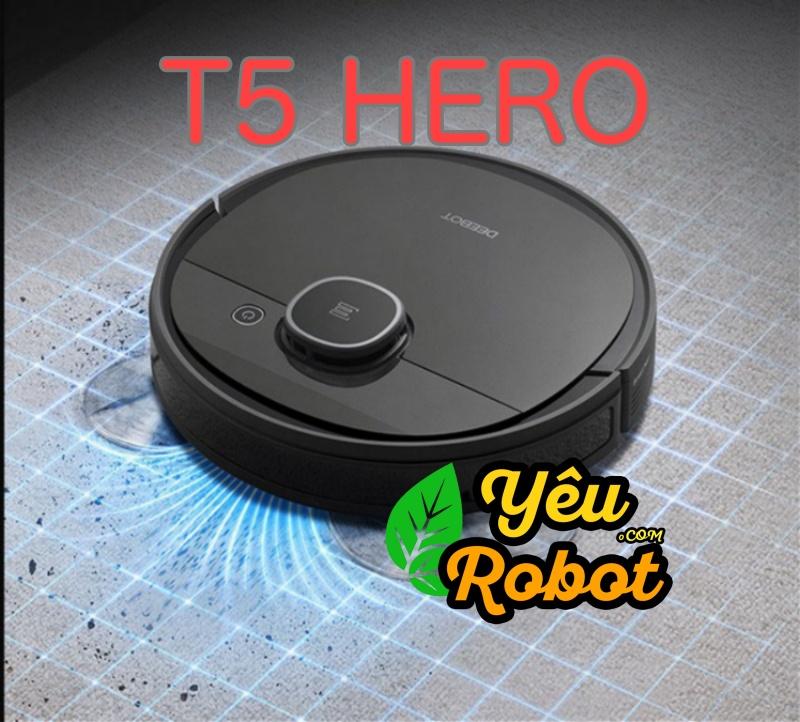 ECOVACS DEEBOT T5 HERO - Robot Hút Bụi Lau Nhà Chính Hãng Fullbox 100%