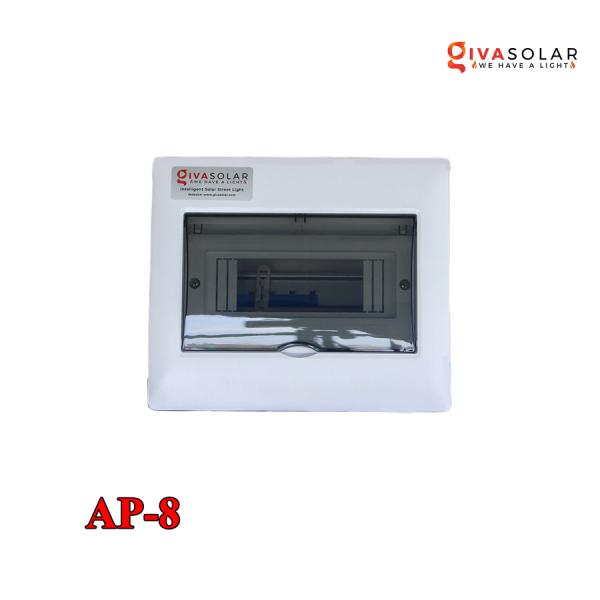 Bảng giá Tủ điện lắp ấm, chống bụi, tiêu chuẩn IP 65 GIVASOLAR GV-AP-8 (8WAY)