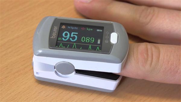 Nơi bán Máy đo khí máu và nhịp tim cá nhân PO80 pin sạc, kết nối USB bảo hành 24 tháng