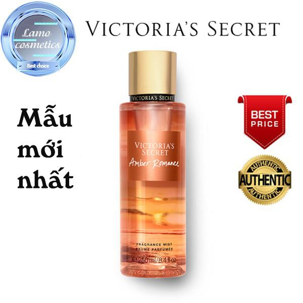 3e81e16b70 Xịt Thơm Toàn Thân Victoria s Secret Mùi Amber Romance Chính Hãng 100%