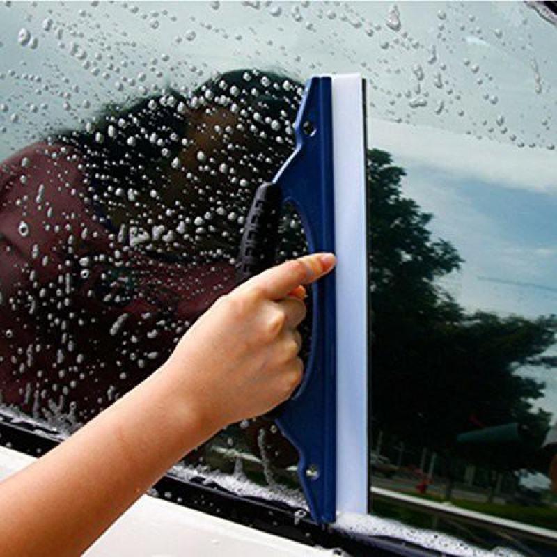 Dụng cụ, thiết bị, thanh gạt nước lưỡi silicon, có tay nắm chuyên dùng rửa kính ô tô, xe hơi, xe tải, văn phòng, nhà cửa _ VIVI (xanh)