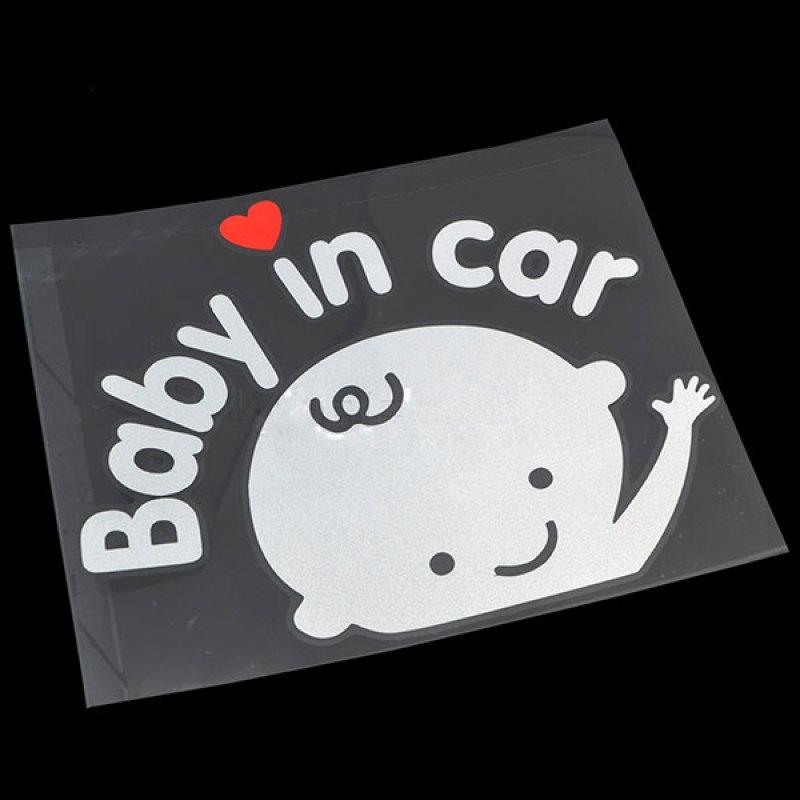Tem Dán Ô Tô Baby In Car Boy (Trắng Đỏ)