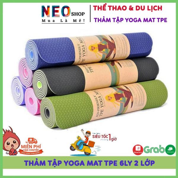 Thảm Tập Yoga, Tập Gym, Tập Thể Dục Tại Nhà TPE Đài Loan Cao Cấp, Chống Trơn Trượt, Êm Ái Khi Sử Dụng