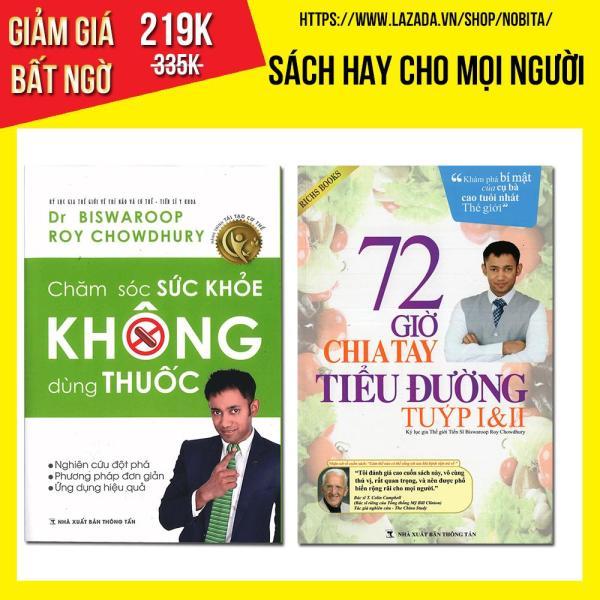 Mua Combo sách - Chăm sóc sức khỏe không dùng thuốc + 72 giờ chia tay tiểu đường tuýt I&II