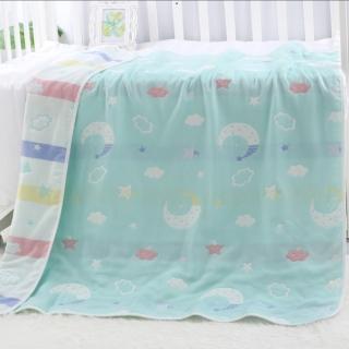 Chăn, Mền Cotton 6 lớp họa tiết xinh xắn cho bé 110 x 110cm thumbnail