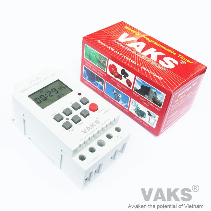 Công tắc hẹn giờ 28 chu kỳ VAKS - KG316S (hẹn từ 1 giây)