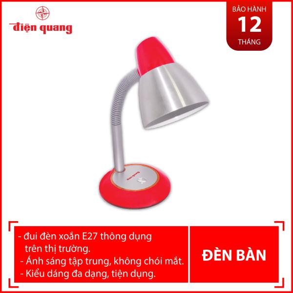 Đèn bàn Điện Quang ĐQ DKL02 B (chóa inox, đỏ trắng, có bóng)