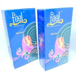 Bộ 2 Bao cao su Feel Ribbed Nhiều Gel Bôi Trơn - Có gân tăng khoái cảm cho nữ thumbnail