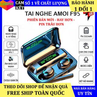 Tai Nghe Bluetooth F9 Pro Tai Nghe Không Dây F9 5 Pin Siêu Trâu Dock Sạc Kiêm Sạc Dự Phòng Cho Điện Thoại Tai Nghe Nhét Tai Không Dây Bluetooth, Tai Nghe Bluetooth Mini - Tai Nghe i7s, i9s, i11s, Amoi f9 Dùng Cho Các Dòng ĐIện Thoại thumbnail