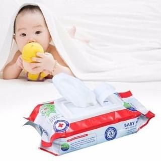 Gói Khăn Giấy Ướt Baby 80 Miếng -Không Mùi, Hương Hoa thumbnail