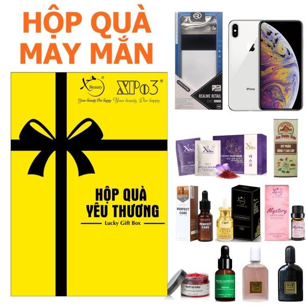 Hộp quà may mắn Lucky Gift Box XBeauty. Mua là có quà, cơ hội trúng ngay iPhone XS, Sạc dự phòng, và hàng trăm sản phẩm khác