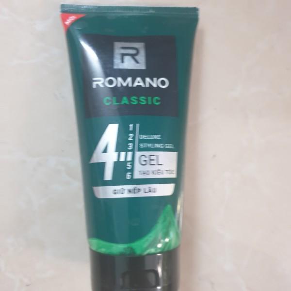 Gel vuốt tóc Romano Classic giữ nếp  lâu 150g-Mẫu mới giá rẻ