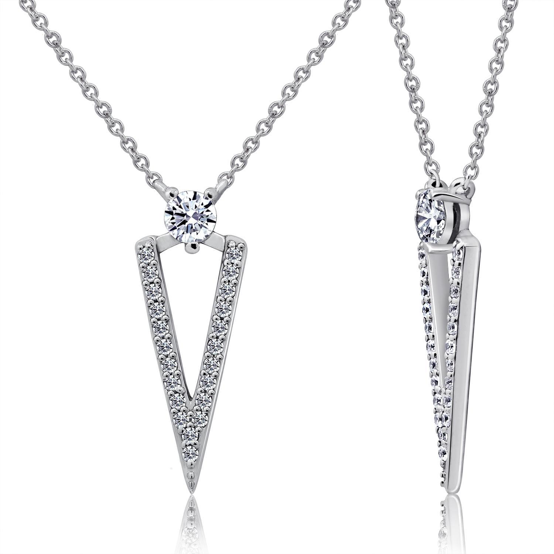 Dây chuyền Unique Style Jadmire bạc 925 cao cấp mạ Platinum đính đá Swarovski® trắng