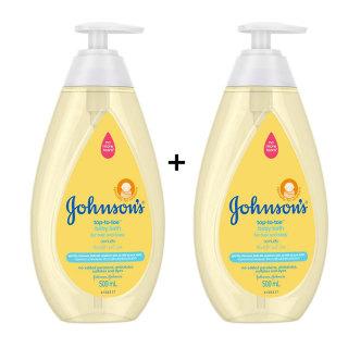 2 chai sữa tắm gội toàn thân cho bé Johnson s top to toe 500ml chai thumbnail