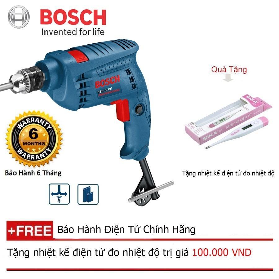 Máy khoan động lực Bosch GSB 10 RE (hộp giấy) + Quà tặng nhiệt kế điện tử