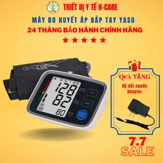 Máy đo huyết áp điện tử bắp tay Yasu công nghệ Nhật - Đo kiểm tra huyết áp cao thấp, nhịp tim chính xác tin cậy - Bộ nhớ đến 99 kết quả cho 2 người - Giá rẻ, chất lượng cao - Bảo hành 2 năm thumbnail