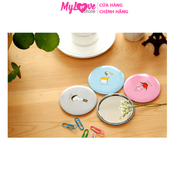 [Siêu gọn] Gương Trang Điểm Mini Cầm Tay Phong Cách Hàn Quốc Cho Cô Nàng Xinh Xắn mylovestore giá rẻ
