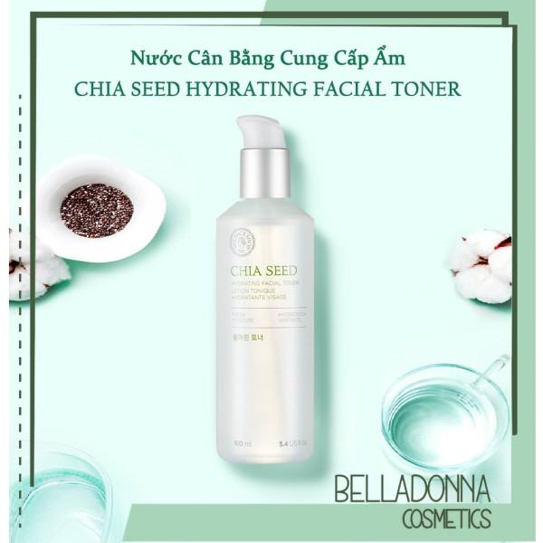 Nước Hoa Hồng Giữ Ẩm Và Chống Lão Hoá The Face Shop Chia Seed Hydrating Facial Toner 160ml