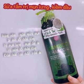 Sữa tắm than tre hoạt tính, sạch mụn lưng Cathy Doll Bamboo Charcoal 500ml Thái Lan thumbnail
