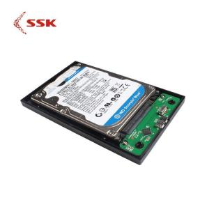 Quà Tặng 99K - Hdd Box gắn ổ cứng 2.5 SSK - SHE088, ổ cứng sata, chuẩn cáp USB 3.0 - SSK HDD Enclosure 2.5 SATA to USB 3.0 Adapter SSD HDD Box Hard Drive Disk Enclosure External HDD Enclosure Black SHE088 thumbnail