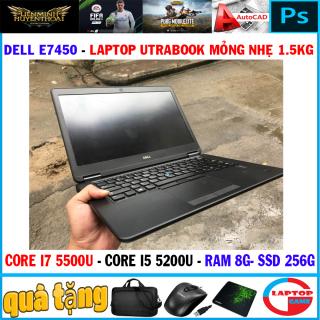 Siêu mỏng Dell Latitude E7450 Core i7 5500U, Core i5-5300U 8G SSD 256G màn 14 inch nặng 1.5kg thumbnail