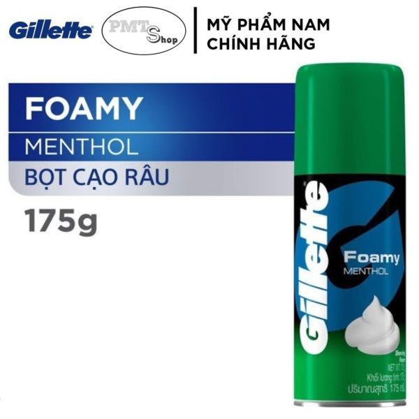 Kem Bọt cạo râu Gillette hương Bạc Hà 175g - Foamy Menthol Lime 175ml giá rẻ