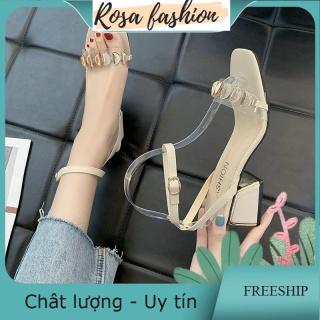 Sandal da bóng khuy khuyết nhũ gót trụ mạ - CG-0566 thumbnail