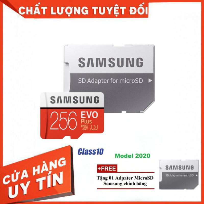 [Giá Rẻ Bất Ngờ] Thẻ nhớ MicroSD Samsung EVO Plus 4K 256GB 100MB/s 256GB Box Hoa - Hàng Chính Hãng